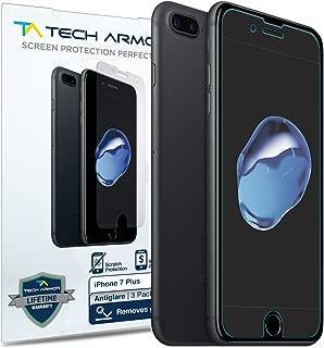 Tech Armor Apple iPhone 7 Plus / iPhone 8 Plus (5.5-inch) Anti-Glare/Fingerprint Film Screen Protector [3-Pack] for Apple iPhone 7 Plus / 8 Plus