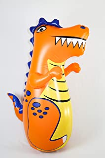 J&A's Inflatable Dudes T-Rex Dinosaur 47 Inches - Bop Bag | Kids Punching Bag | Inflatable Toy | Boxing - Premium Vinyl- Comes with Sand-Filled Base for Bounce-Back Action! Weighted Bottom