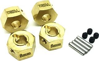 Treal Brass Extended Wheel Hex Pins Set 8mm for Redcat GEN8(4pcs)