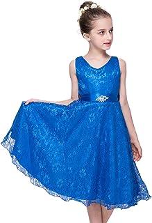 3c5d17b01bf36 Babyonlinedress Elégant Robe de Fille Enfant de Mariage d honneur Soirée  Princesse Noble