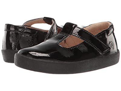 Old Soles Tod T (Toddler/Little Kid) (Black Patent) Girl
