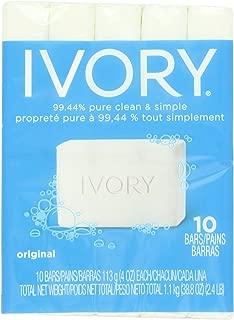Ivory Original 10-Count: Bath Size Bars (4 Oz), 38.8 Ounce