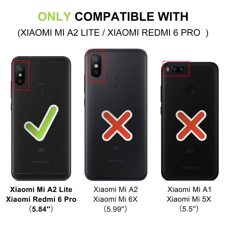 HOOMIL Funda Xiaomi Mi A2 Lite, Funda Xiaomi Redmi 6 Pro, Funda de ...