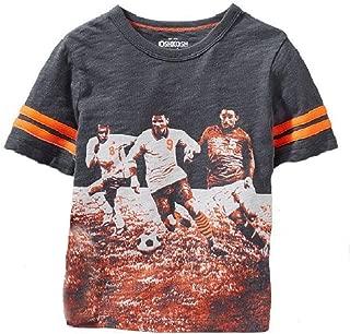 OshKosh B'Gosh® Boys Printed Soccer Player; Grey