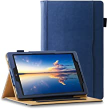 ZoneFoker All New Kindle Fire HD 10 Tablet Leather Case (9th/7th Generation,2019/2017 Released), [Auto Sleep/Wake] Corner Protection Multi-Angle Viewing Folio Stand Cover Cases - Blue