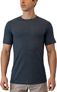 Woolx Men's Endurance Lightweight Extremely Durable Merino Wool Tee Wicks Away Moisture