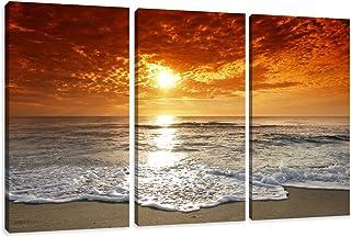 comprar comparacion Cuadros en Lienzo Puesta del Sol 160 x 90 cm Modelo Nr. 1038 XXL Las imágenes Estan Listas, enmarcadas en Marcos de Madera...