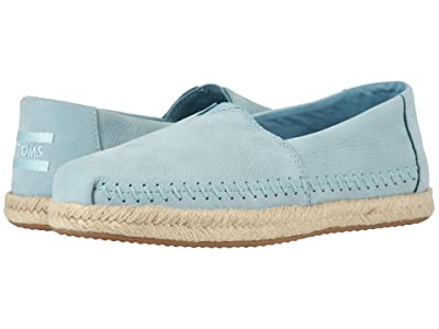 TOMS Alpargata on Rope (Pastel Turquoise Nubuck on Rope) Women