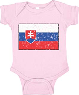 Amdesco Slovakia Flag Slovak Infant Bodysuit