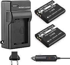 Venwo 2 Pack LI-90B LI-92B Batteries and Charger for Olympus Tough TG-5,Tough TG-1 IHS, Tough TG-2 IHS, Tough TG-3,Tough TG-4, SH-1, SH-50 IHS, SH-60, SP-100, SP-100EE, XZ-2 iHS Camera