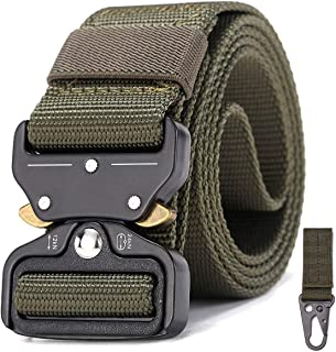 ReFire Gear Men's Military Tactical Belt Heavy Duty Adjustable Army Webbing Waist Belt Quick Release Metal Buckle Nylon Ou...