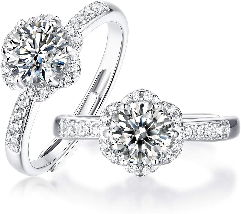 開店祝い CIMIGROUP Moissanite Engagement Ring D Moissa Color Clarity 別倉庫からの配送 VVS