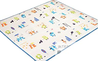 Baby Baby Creep Mat Double-Sided Children's Carpet Living Room Home Foam Game Pad 澳乐小宇宙+趣味字母145*145 * 1