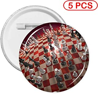 Kuyanasfk Round Buttons Pins Badges A World of Chess Game Boys Girls Women Men Back Gifts Clothing Decoration Collectible Buttons 1 PCS