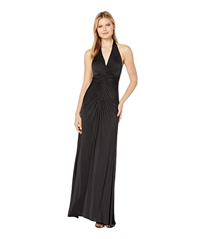 JILL JILL STUART Jersey Ruched Gown (Black) Women