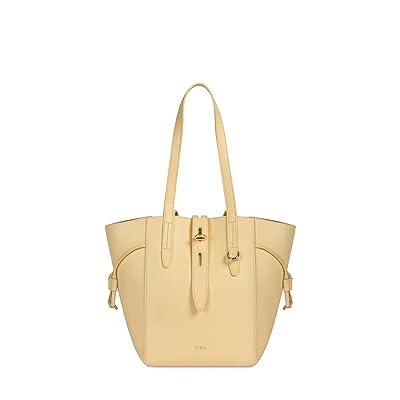 Furla Net Medium Tote (Crema) Handbags