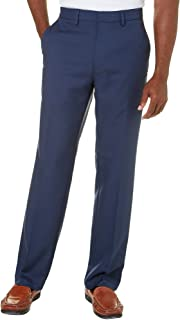 Haggar Men's Standards Solid Gabardine Superflex Waist Flat Front Pant