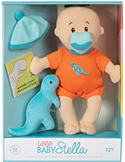 "Manhattan Toy Wee Baby Stella Tiny Dino 12"" Soft Baby Doll Set"