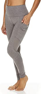 Reebok Women's 7/8 Workout Leggings w/High-Rise Waist - Performance Compression Tights