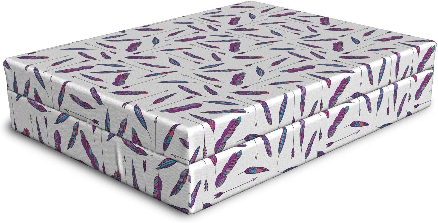 shipfree Ambesonne Hippie Dog Bed Super sale period limited Print Repetitive of Bohemian Feathers