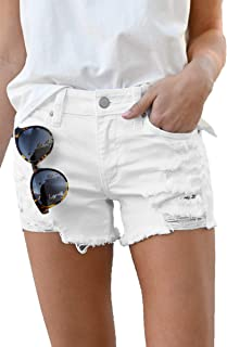 Denim Hot Shorts for Women High Stretch Mid Rise Shaping...