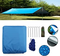 Balalafairy-sport 300X300cm / 118.1X118.1 Inch Outdoor Camping Waterproof Tarp Sunshade Awning Canopy Beach Tent Cover Sun Shelter - Blue (Color : Blue, Size : 300 x 300cm)