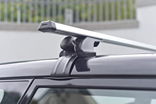 """MPH Production 2Pcs 50"""" (127cm) Universal Fit Silver Adjustable Aluminum Window Frame Roof Rack Rail Cross Bars Utility Cargo Carrier with 3 Pairs of Mounting Clamps (2 Pcs)"""