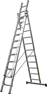 comprar comparacion Homelux 825031 Escalera Aluminio Triple, 3.5 + 3.5 + 3.5 m, 3 x 13 Peldaños, 22.2 kg