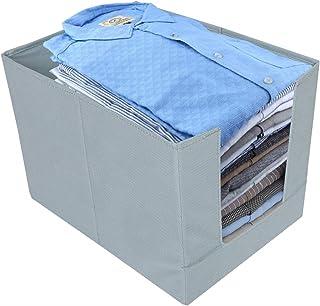 Kuber Industries Non-Woven Shirt Stacker Wardrobe Organizer (Grey)