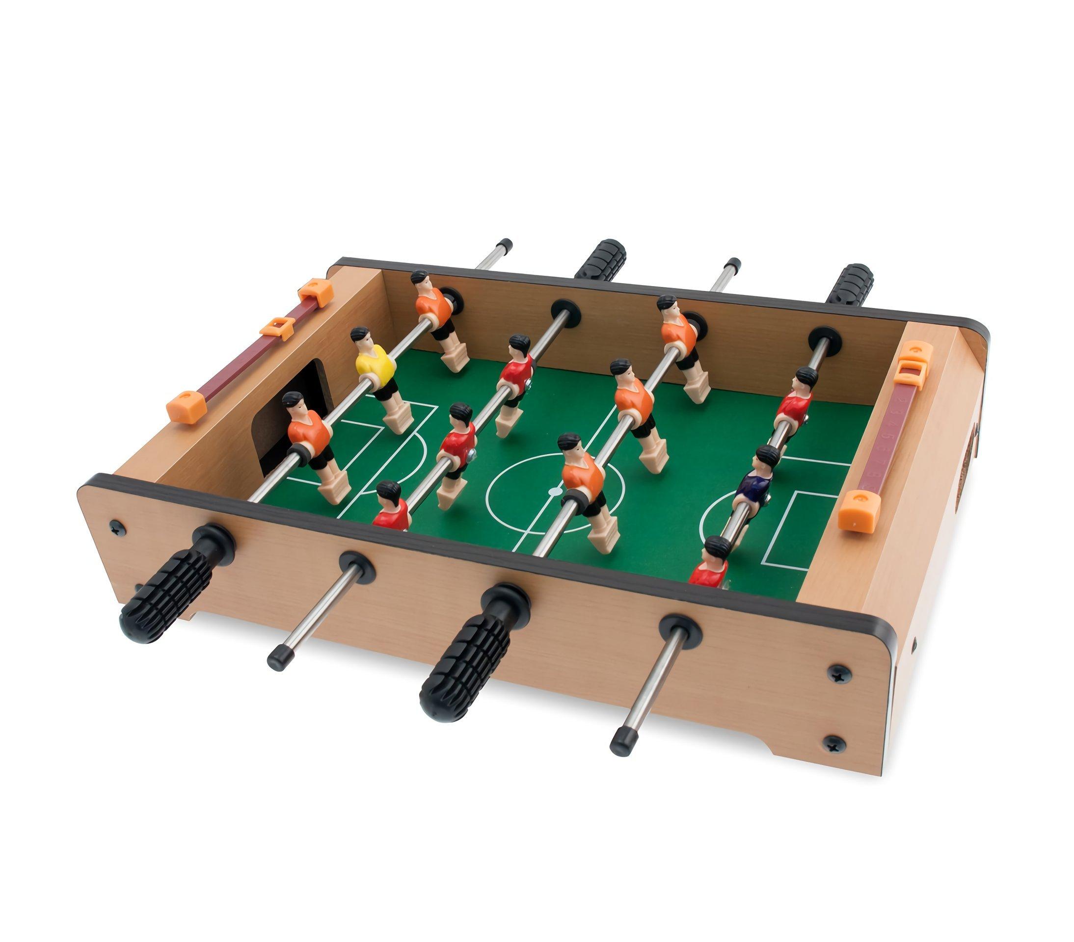 634430 Mini futbolín con 12 jugadores 4 líneas 36 x 22 x 7cm ...