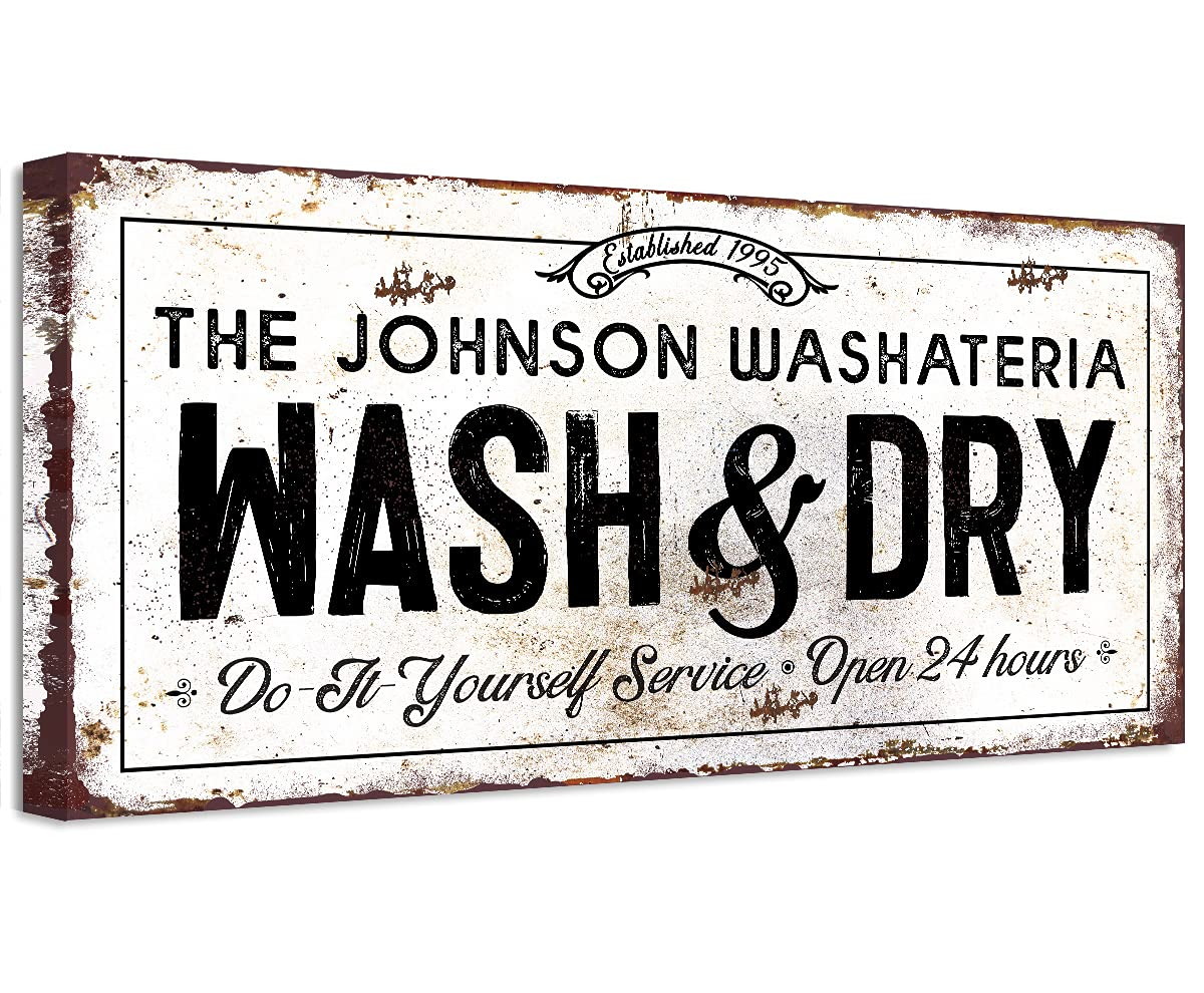Personalized - Wash And Dry Large Canvas Wall Art Printed mart Not Very popular
