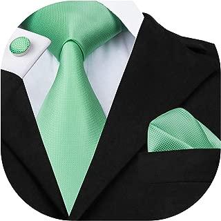 Mens Silk Necktie and Hanky Cufflinks Set 59