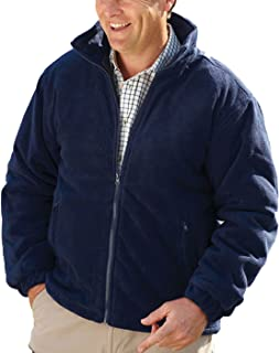 Champion New Mens Thick Warm Padded Anti Pill Fleece Jacket Quilted Coat Full Zip Zipped Pockets Inside Pocket Adjustable ...
