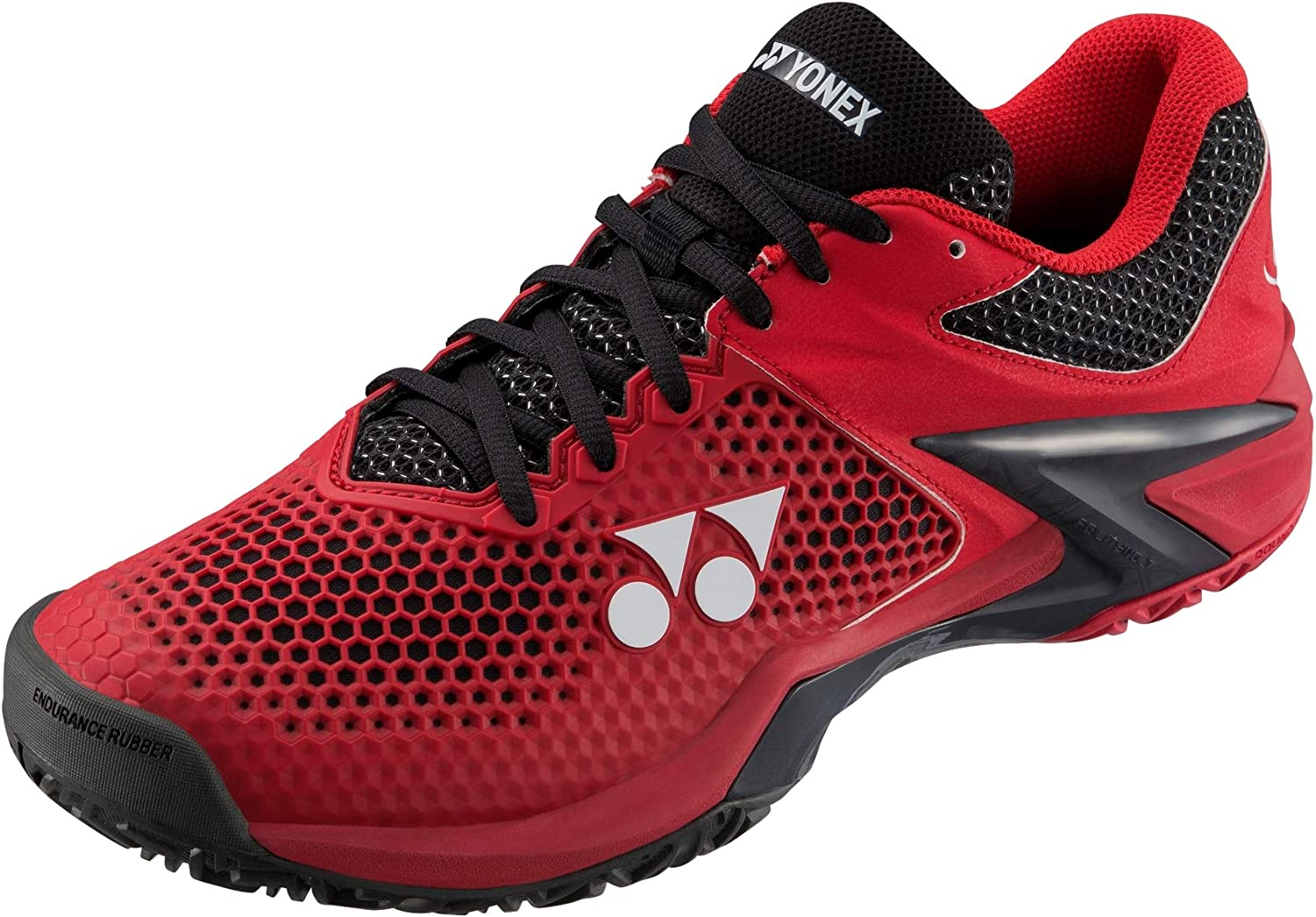 Yonex Power Cushion Eclipsion 2 Mens Tennis shoes, Red Black (Size 11)