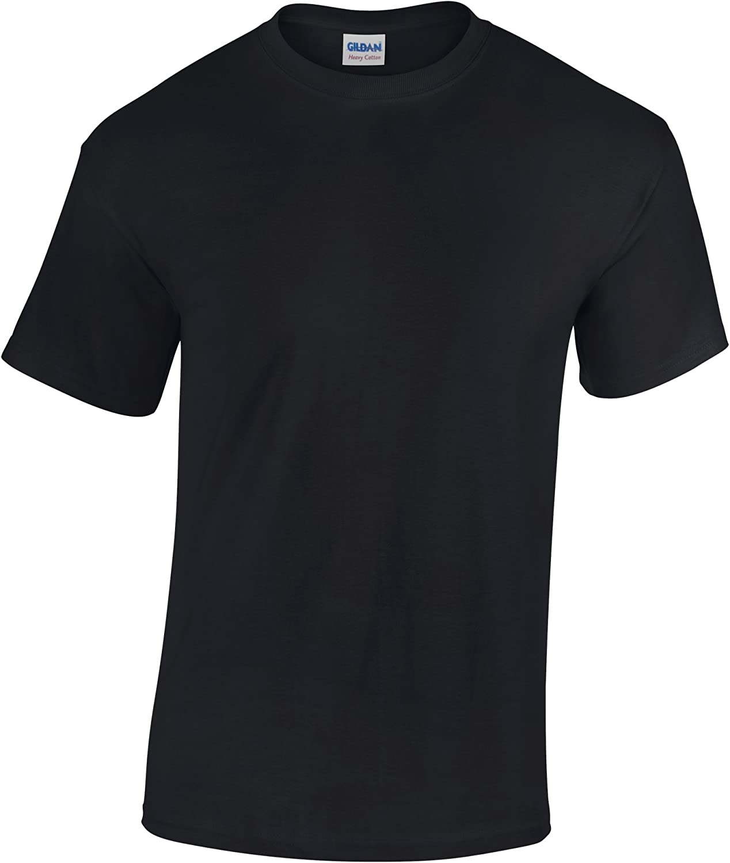 Gildan Childrens Unisex Heavy Cotton T-Shirt (Pack of 2) (L) (Black)
