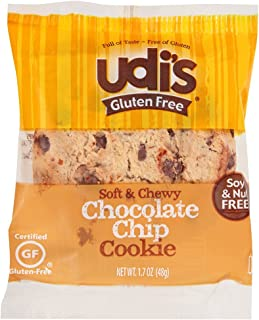 Udis Gluten Free Chocolate Chip Cookie, 1.7 Ounce -- 36 per case.