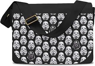 Vader & Storm Trooper Helmets Star Wars Inspired Messenger Bag - One Size Messenger Bag