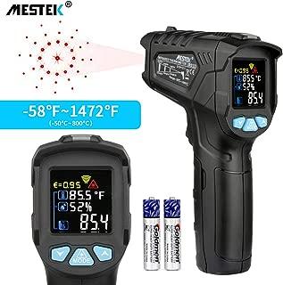 Festnight Digitale Infrarot Thermometer Pyrometer Digital LCD Ber/ührungslos IR-Infrarotthermometer Stirn K/örperoberfl/äche Funktion Temperaturmessung Data Hold