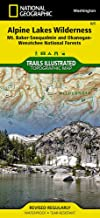 Alpine Lakes Wilderness [Mt. Baker-Snoqualmie and Okanogan-Wenatchee National Forests] (National Geographic Trails Illustrated Map (825))