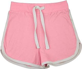 Kids Girls Shorts 100% Cotton Dance Gym Sports Baby Pink Summer Hot Short Pants