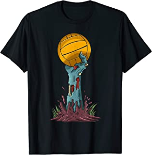 Zombie Hands Water Polo Ball Funny Halloween Horror Scary T-Shirt