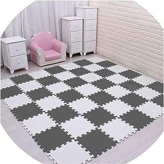 SEE YOU! Play Mat Plain Color Puzzle Mats Eva Foam Mats 30X30X1Cm for Bedroom School Protective Floor Tiles