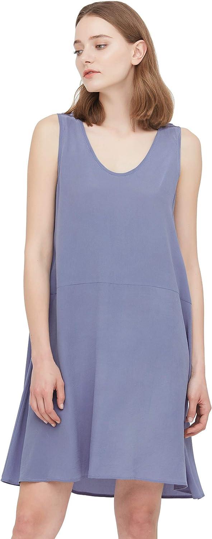 LilySilk Women's Silk Vest Dress 100% Silk U Neck Dress for Summer Basic