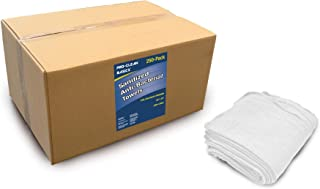 Pro-Clean Basics 99841 Sanitized Anti-Bacteria Woven Wiping Cloth Rag, Pack of 250, White