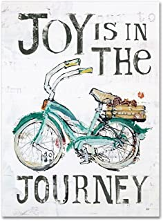Joy is in the Journey by Kellie Day, 14x19-Inch Canvas Wall Art