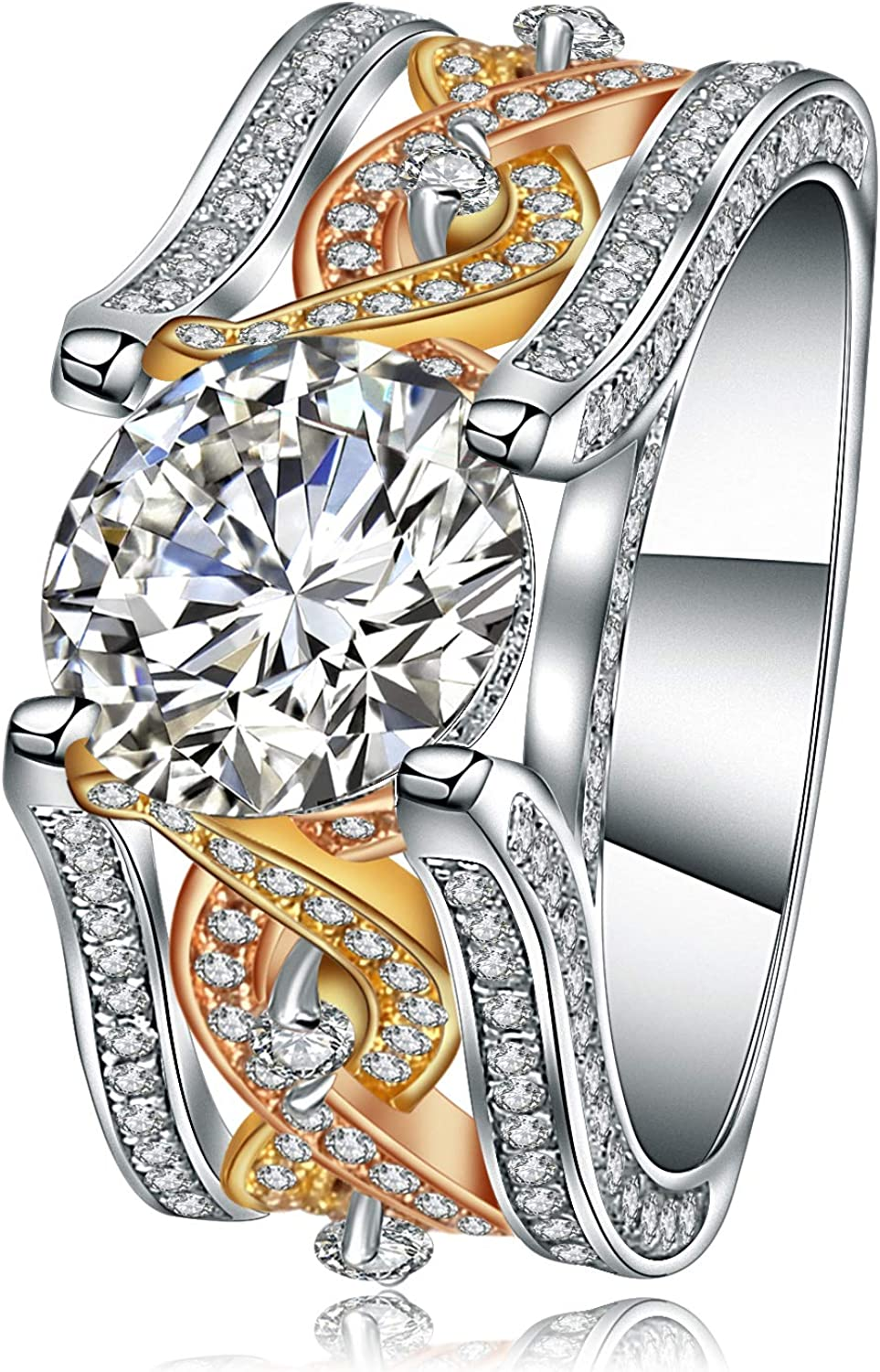 10.5Ct Round Shape 8.5mm Zircon Eng 67% OFF of fixed price excellence 925 Sterling Silver Gemstone