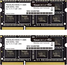 TEAMGROUP Elite 8GB Single Compatible for Apple Mac DDR3L 1600MHz PC3-12800 CL11 Non-ECC 1.35V SODIMM 204-Pin Laptop Notebook PC Computer Memory Module Ram Upgrade for iMac Late Retina/Mac Mini Late