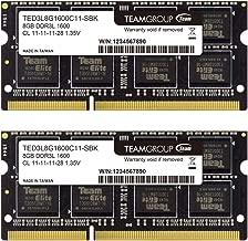 TEAMGROUP Elite DDR3L 8GB Kit (2 x 4GB) 1600MHz PC3-12800 CL11 Unbuffered Non-ECC 1.35V SODIMM 204-Pin Laptop Notebook PC Computer Memory Module Ram Upgrade - TED3L8G1600C11DC-S01-8GB Kit 2x4GB