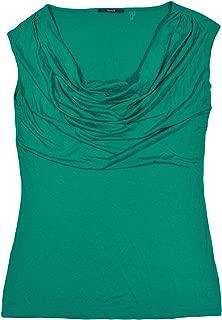 Tahari Turquoise Cowl Neck Sleeveless T-Shirt M