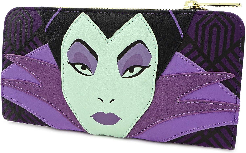 Loungefly x Disney Maleficent Top Wallet Zip security Ranking TOP2 Villains
